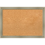 Amanti Art Framed Cork Board Medium  Warm Silver Swoop 26 x 18 Frame Silver (DSW3994655)