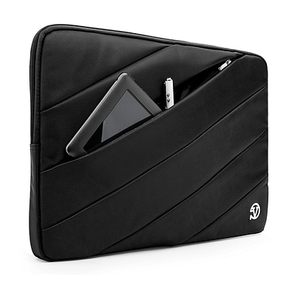 Vangoddy Nylon Sleeve Case for 14 inch 15.6 Inch Laptop, Black (PT_NBKLEA111_HP)