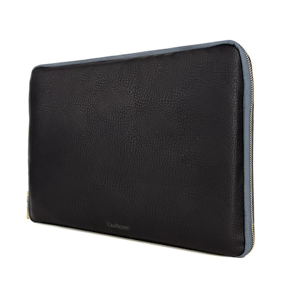 Vangoddy PU Leather Sleeve Case for 13.3 Inch Laptop, Black (PT_NBKLEA921_HP)