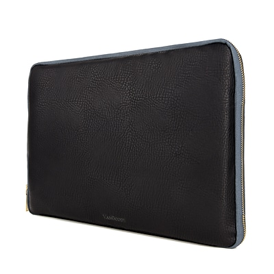 Vangoddy PU Leather Sleeve Case for 15.6 Inch Laptop, Black (PT_RDYLEA771_HP)