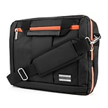 Vangoddy Nylon Backpack Messenger Shoulder Bag Case for 15.6 Inch Laptop, Black Orange (PT_NBKLEA294