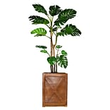 Vintage Home 81 Tall Monstera with Burlap Kit and Fiberstone Planter (VHX127207)