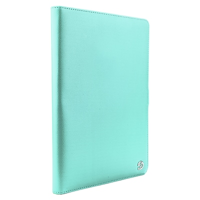 Vangodd Leather Executive Universal Portfolio Case for 10 inch to 11.5 Inch tablet, Aqua Blue (PT_SURLEA012)