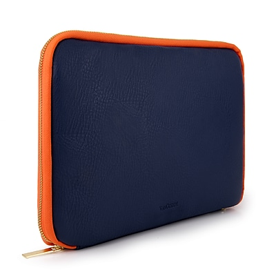 Vangoddy Leather Tablet Sleeve for iPad Samsung Galaxy Kindle Fire, Blue (PT_RDYLEA592_HP)