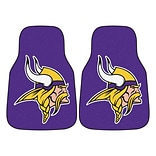 FANMATS Minnesota Vikings 2-pc Nylon Carpeted Car Mats 17x27 (5761)