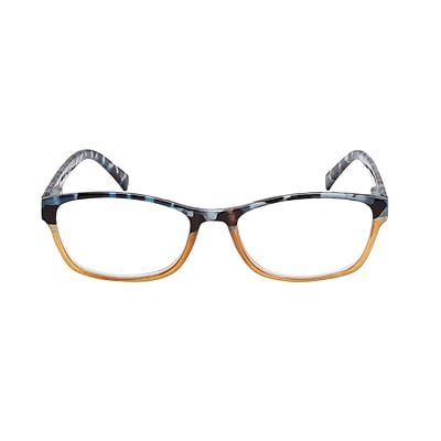 VK Couture +2.75 Strength High Fashion Reading Glasses, Brown Blue Demi (E1301)