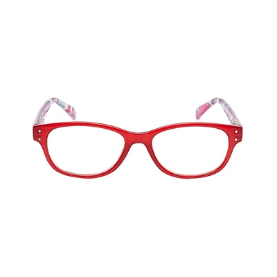 VK Couture +2.50 Strength High Fashion Reading Glasses, Red (E1303)
