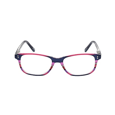 VK Couture +2.75 Strength High Fashion Reading Glasses, Pink Stripe (E1304)