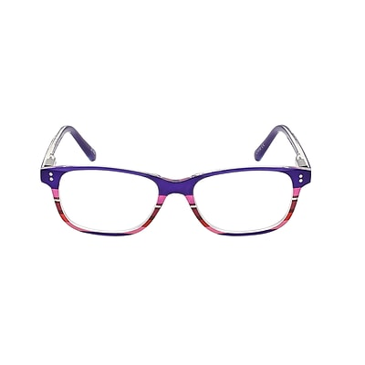 VK Couture +1.25 Strength High Fashion Reading Glasses, Purple Stripe (E1304)