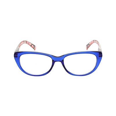 VK Couture +2.50 Strength High Fashion Reading Glasses, Blue (E1307)