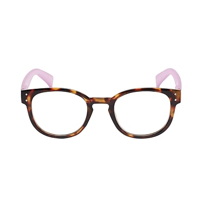 VK Couture +2.75 Strength High Fashion Reading Glasses, Ice Pink Demi (E1308)