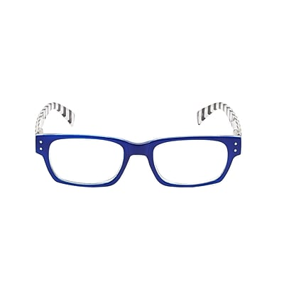 VK Couture +1.75 Strength High Fashion Reading Glasses, Blue (E1309)