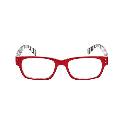 VK Couture +1.25 Strength High Fashion Reading Glasses, Red (E1309)