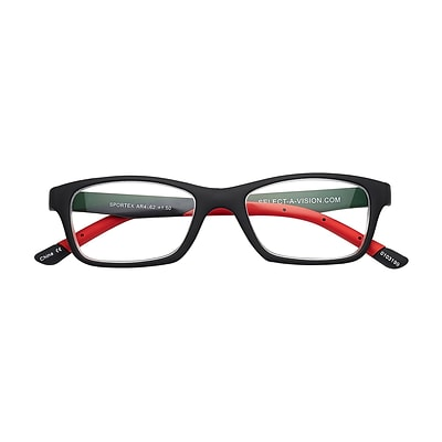 Sportex +2.50 Strength Performance Reading Glasses, Red (EAR4162)