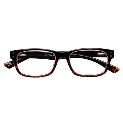 Optitek +1.75 Strength Hi Tech Reading Glasses, Black Demi (EAR7162)