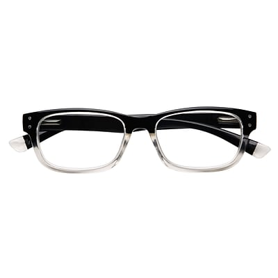 Optitek +2.75 Strength Hi Tech Reading Glasses, Black Clear (EAR7162)