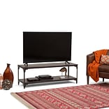 Simpli Home Nantucket 54 x 18 inch TV Media Stand in Walnut Brown for TVs up to 60 inches (3AXCNTT-0