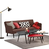 Simpli Home Aubrey 55 x 23.5 inch 3 Pc Nesting Coffee Table Set in Midnight Black Red and White (AXC