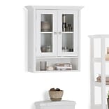 Simpli Home Acadian 24 x 28 inch Double Door Wall Cabinet in White (AXCBCACA-04)