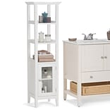 Simpli Home Acadian 16 x 56 inch Bath Storage Tower in White (AXCBCACA-05)