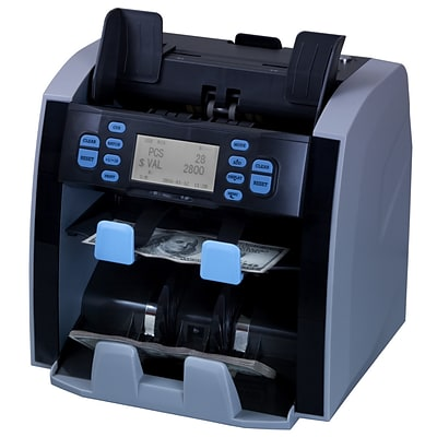 Carnation Mixed Denomination Money Bill Currency Counter Sorter CR1500 with Value Counting, Serial Number Recognition