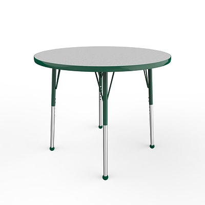 ECR4Kids Thermo-Fused Adjustable Ball 36 Round Laminate Activity Table Grey/Green (ELR-14214-GYGNGNSB)