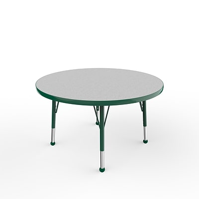 ECR4Kids Thermo-Fused Adjustable Ball 36 Round Laminate Activity Table Grey/Green (ELR-14214-GYGNGNTB)