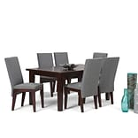 Simpli Home Jennings 7 Piece Dining Set in Grey Linen Look Fabric (AXCDS7JEN-GL)