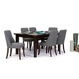 Simpli Home Walden 7 piece Dining Set in Slate Grey Linen Look Fabric (AXCDS7WA-SGL)