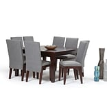 Simpli Home Jennings 9 Piece Dining Set in Grey Linen Look Fabric (AXCDS9JEN-GL)