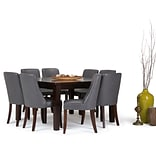Simpli Home Walden 9 piece Dining Set in Stone Grey Faux Leather (AXCDS9WA-STG)