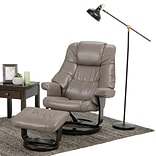 Simpli Home Ledi Air Faux Leather Euro Recliner in Taupe (AXCEUREC-01)