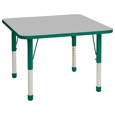 ECR4Kids Thermo-Fused Adjustable 36 Square Laminate Activity Table Grey/Green (ELR-14223-GYGNGNCH)