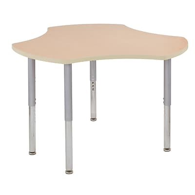 ECR4Kids Thermo-Fused Adjustable Leg 48 Cog Laminate Activity Table Maple/Maple/Silver (ELR-14230-MPMPSVSL)