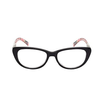 VK Couture +2.75 Strength High Fashion Reading Glasses, Black (E1307)