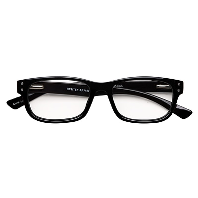Optitek +2.50 Strength Hi Tech Reading Glasses, Black (EAR7162)