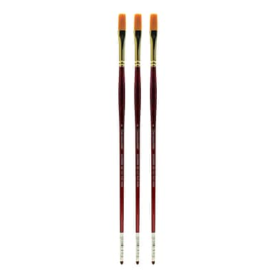 Grumbacher Goldenedge Oil and Acrylic Brushes 4 flat [Pack of 3] (PK3-630F4G)