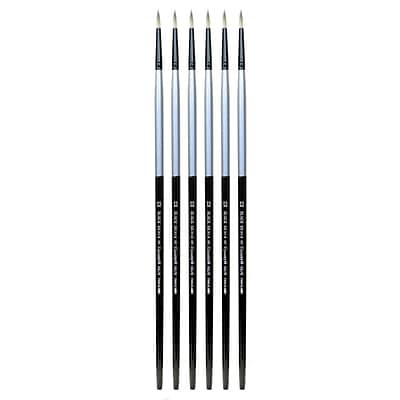 Dynasty Black Silver Round Long Handle 12, 6/Pack (PK6-32858)