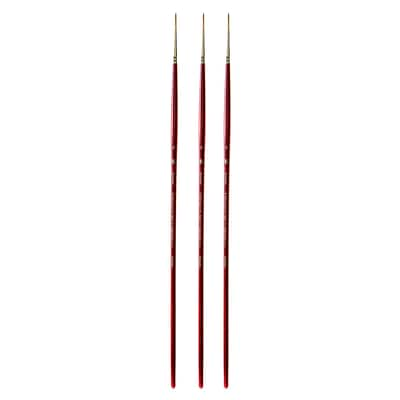 Princeton Series 4000 Heritage Best Synthetic Sable Brushes, Size 4 Long Handle Round, Pack of 3 (PK3-4000R-4)