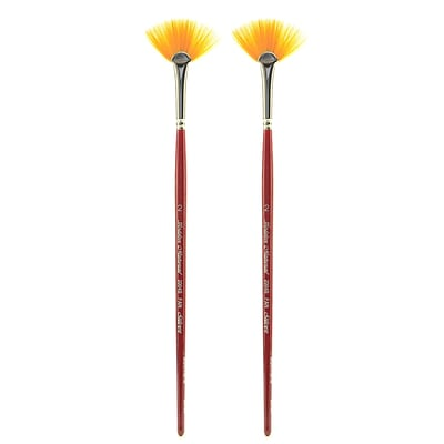 Silver Brush Golden Natural Series Brushes, 2 Fan 2004S, Pack of 2 (PK2-2004S-2)