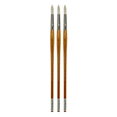 Grumbacher Bristlette Oil and Acrylic Brushes, 8 Round, Pack of 3 (PK3-4720R.8)