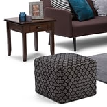 Simpli Home Simpson Patterned Square Pouf (AXCPF-06)