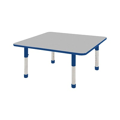 ECR4Kids Thermo-Fused Adjustable 48 Square Laminate Activity Table Grey/Blue (ELR-14217-GYBLBLCH)