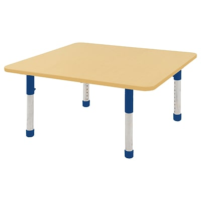 ECR4Kids Thermo-Fused Adjustable 48 Square Laminate Activity Table Maple/Maple/Blue (ELR-14217-MPMPBLCH)