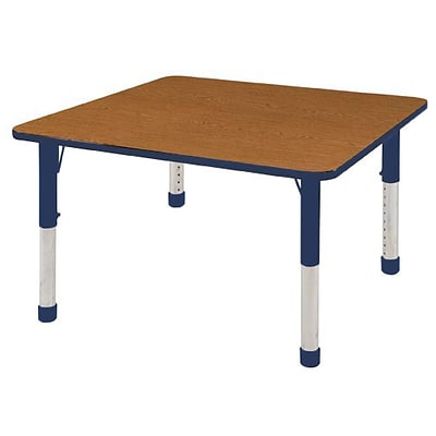 ECR4Kids Thermo-Fused Adjustable 48 Square Laminate Activity Table Oak/Navy (ELR-14217-OKNVNVCH)