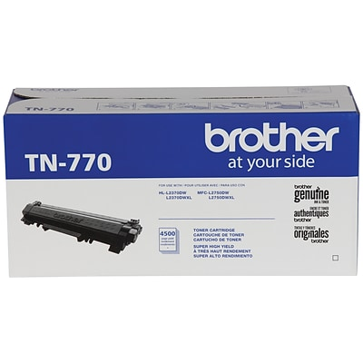 Brother TN 770 Black Toner Cartridge, Extra High Yield