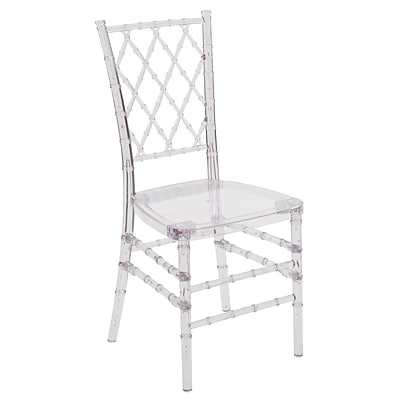 Flash Furniture Plastic Stacking Chair Crystal Ice (Y4)