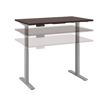 Move 60 by Bush Business Furniture 48W Height Adjustable Standing Desk, Mocha Cherry (M6S4824MRSSK)
