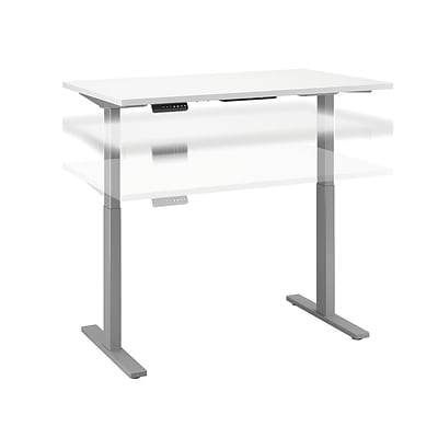Move 60 by Bush Business Furniture 48W x 24D Height Adjustable Standing Desk, White (M6S4824WHSK)