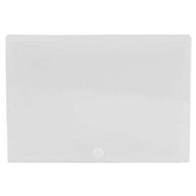 JAM Paper® Plastic Index Card Case, 8-3/8 x 5-3/4, 1-3/8, Clear, Sold Individually (374032792)